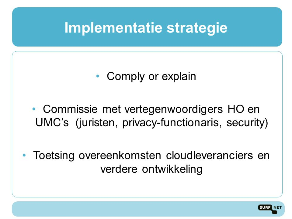 Implementatie strategie