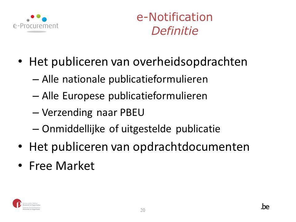 Het publiceren van overheidsopdrachten