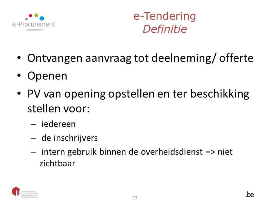 e-Tendering Definitie