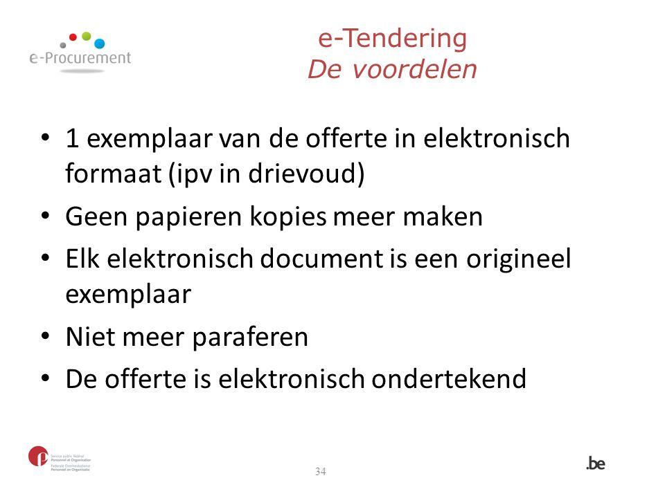 e-Tendering De voordelen