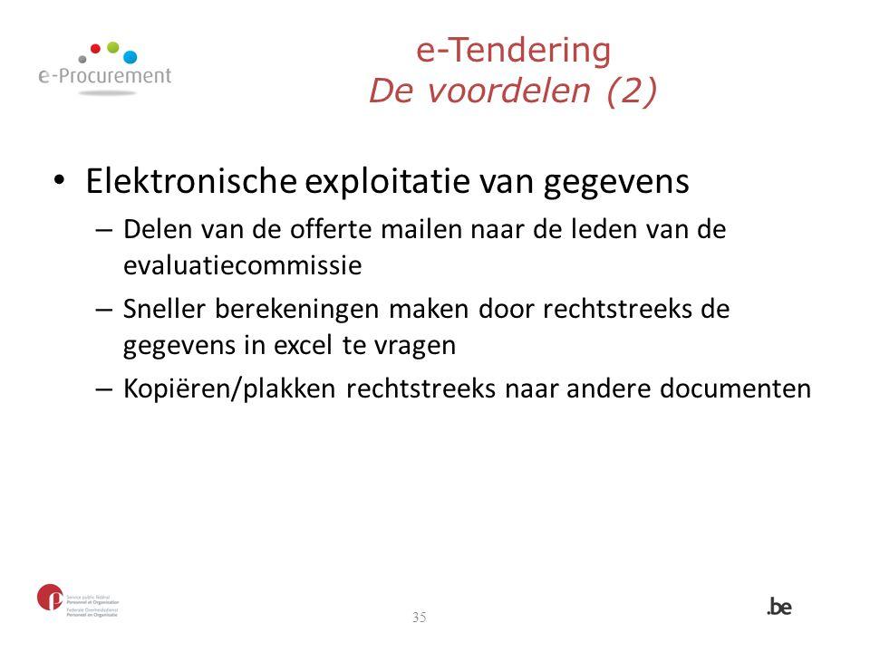 e-Tendering De voordelen (2)
