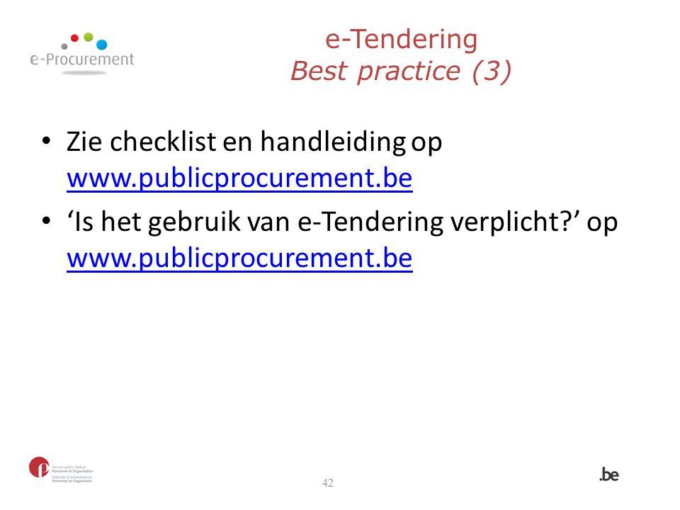 e-Tendering Best practice (3)