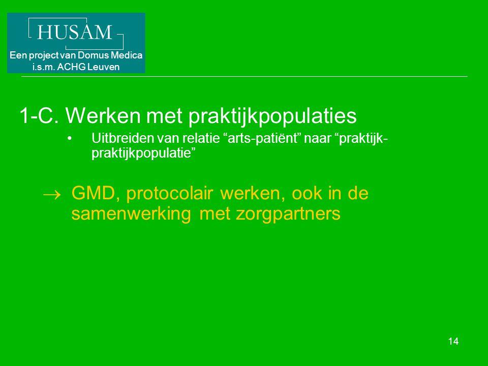 1-C. Werken met praktijkpopulaties