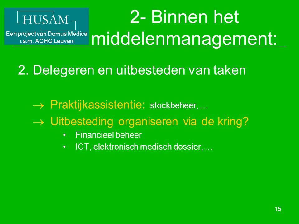 2- Binnen het middelenmanagement: