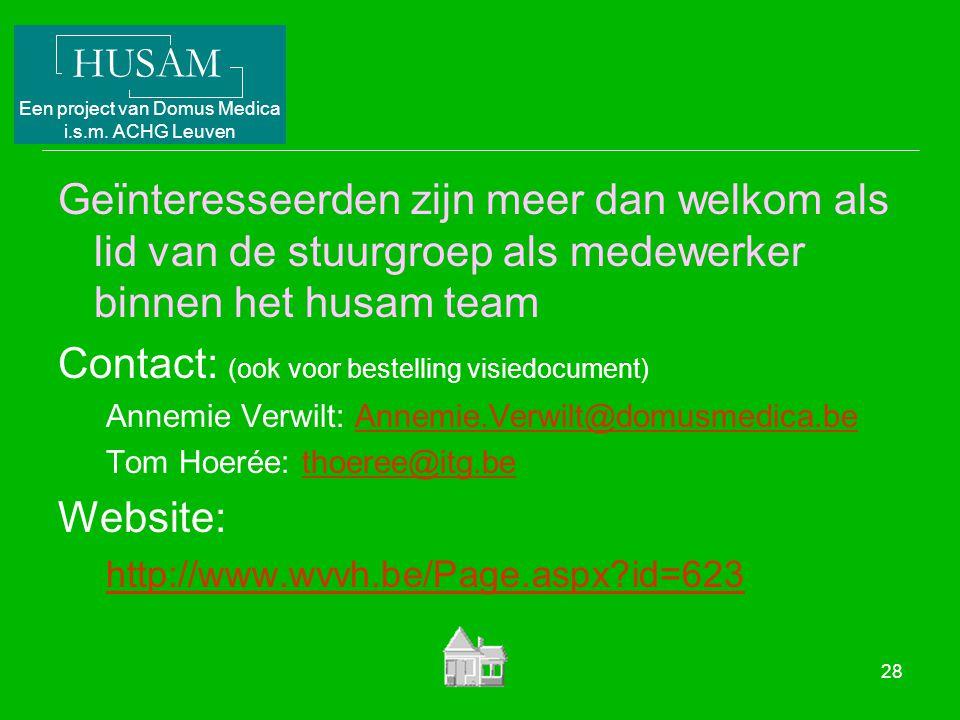 Contact: (ook voor bestelling visiedocument)