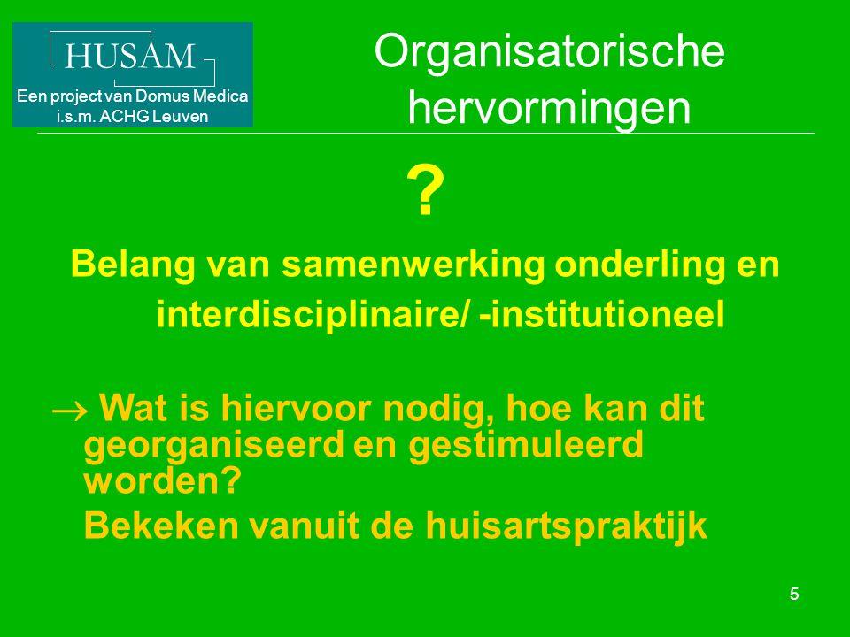 Organisatorische hervormingen