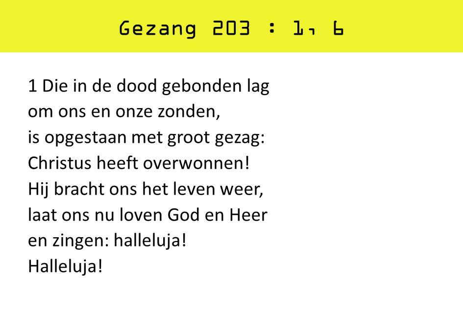 Gezang 203 : 1, 6