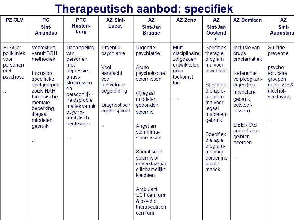 Therapeutisch aanbod: specifiek