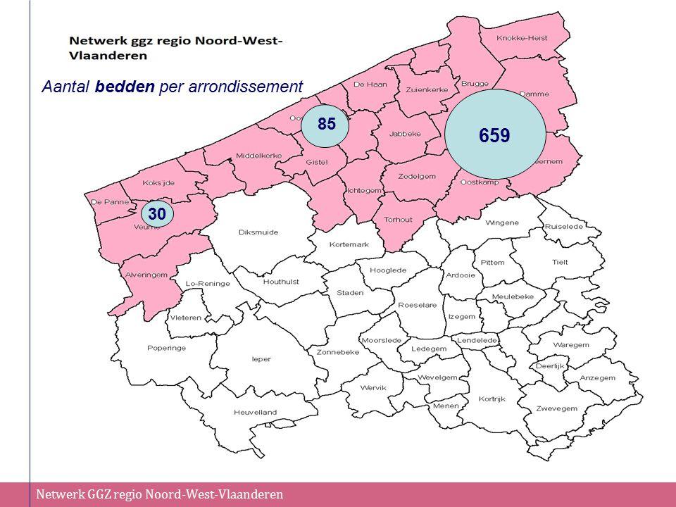 Aantal bedden per arrondissement