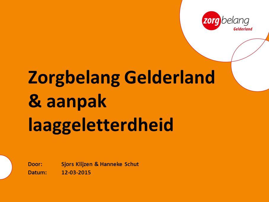 Zorgbelang Gelderland & aanpak laaggeletterdheid