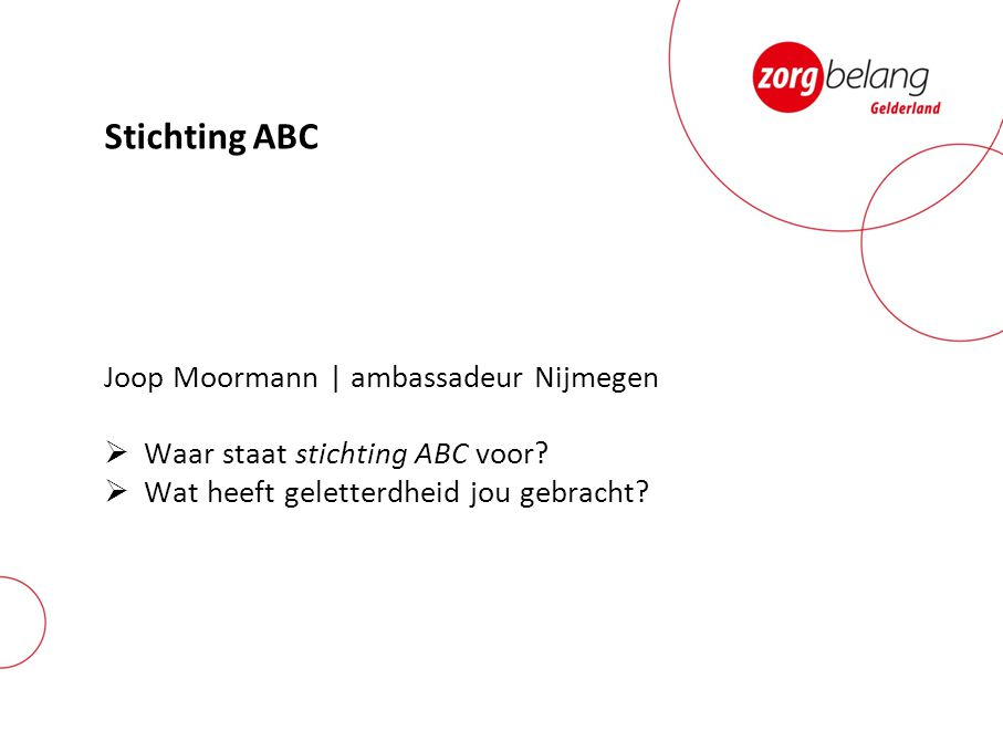 Stichting ABC Joop Moormann | ambassadeur Nijmegen