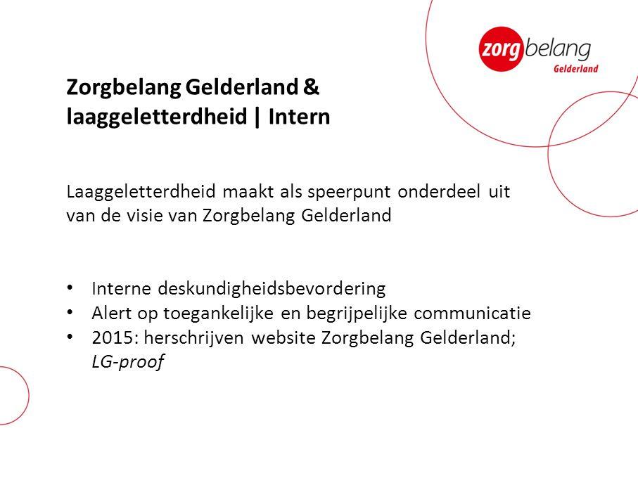Zorgbelang Gelderland & laaggeletterdheid | Intern