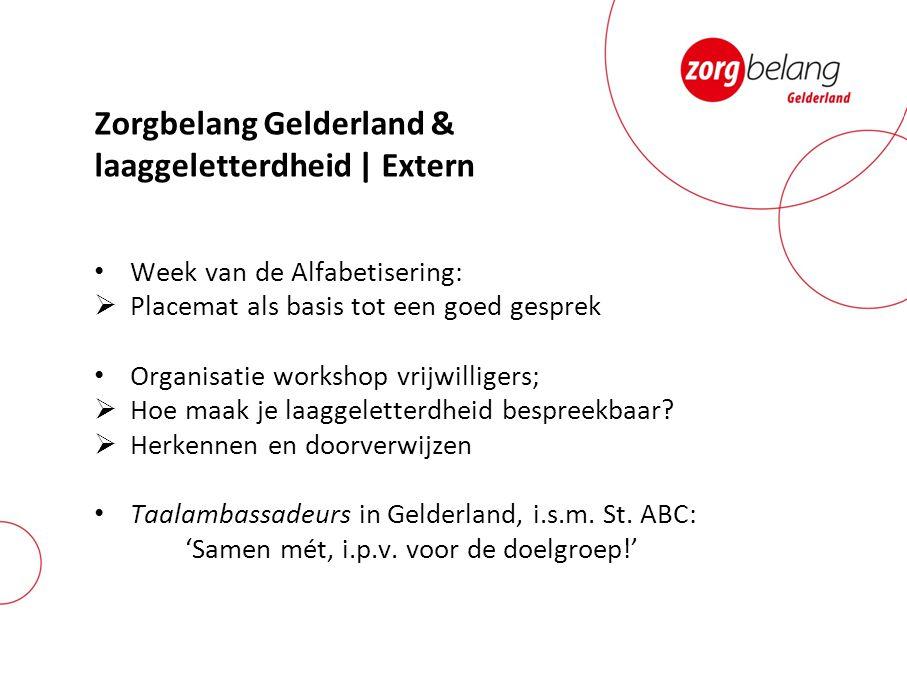 Zorgbelang Gelderland & laaggeletterdheid | Extern