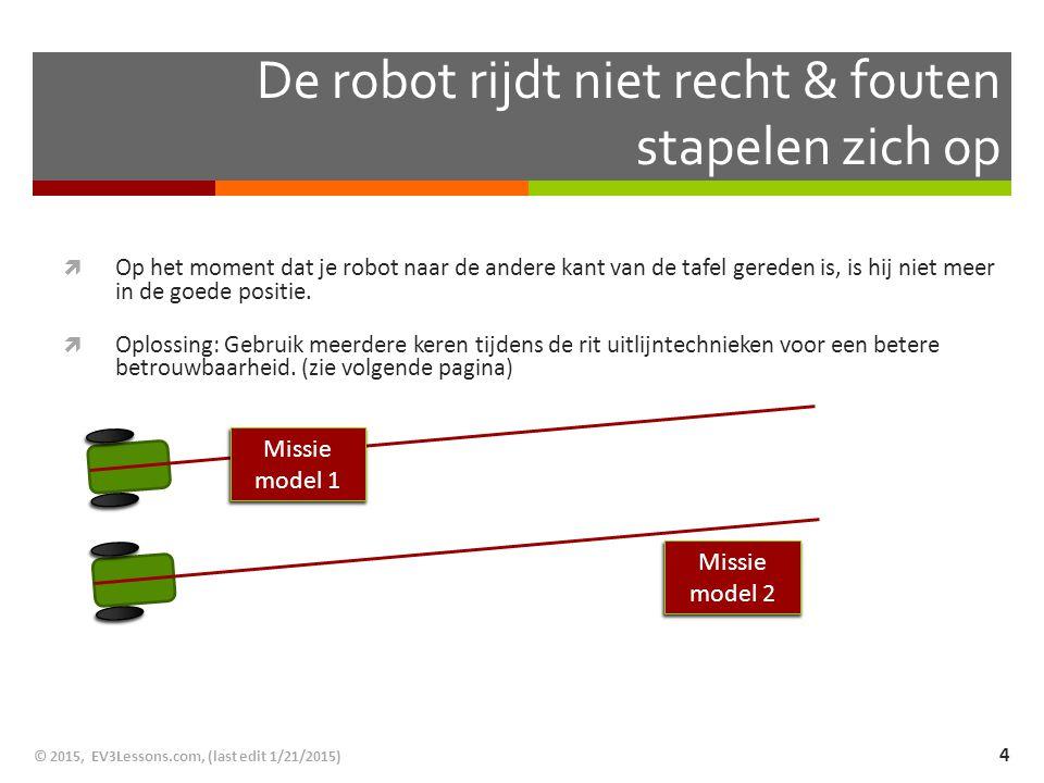 De robot rijdt niet recht & fouten stapelen zich op
