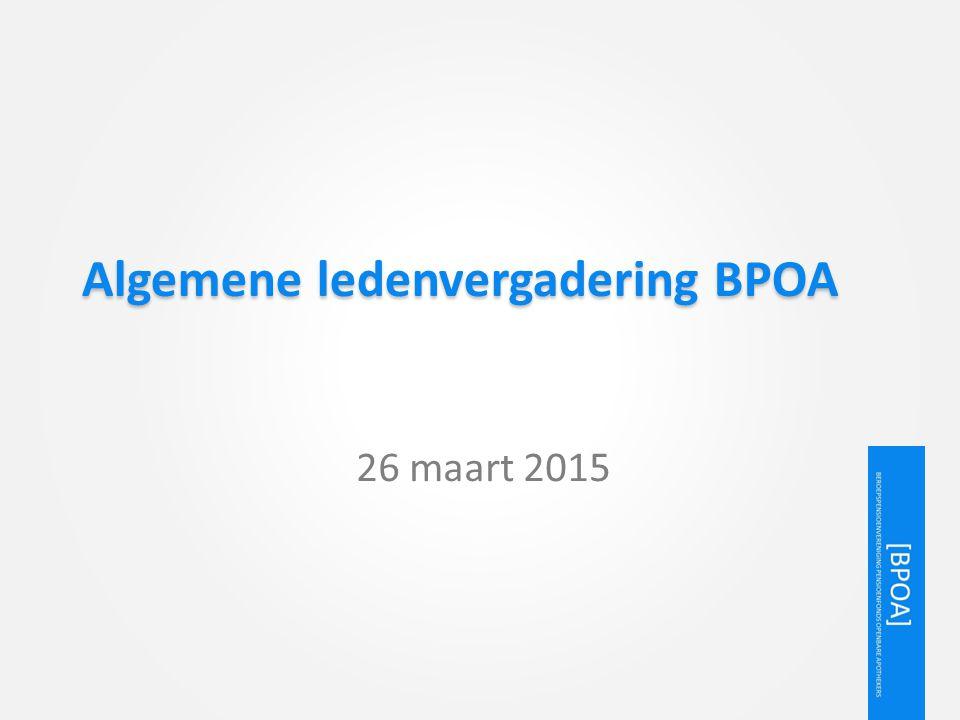 Algemene ledenvergadering BPOA