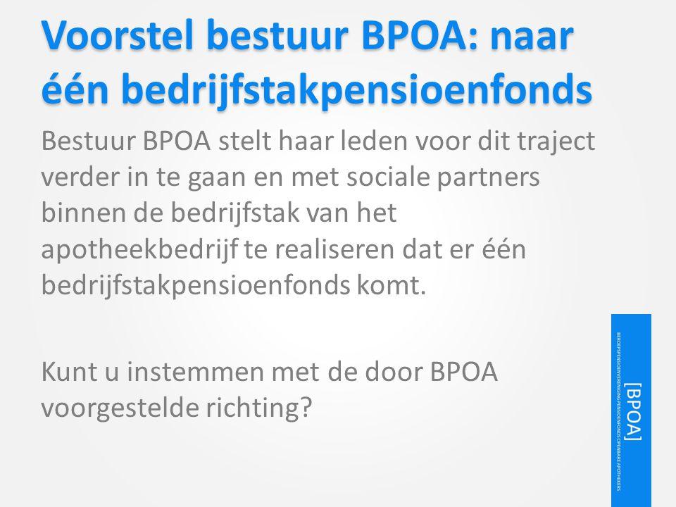 Voorstel bestuur BPOA: naar één bedrijfstakpensioenfonds