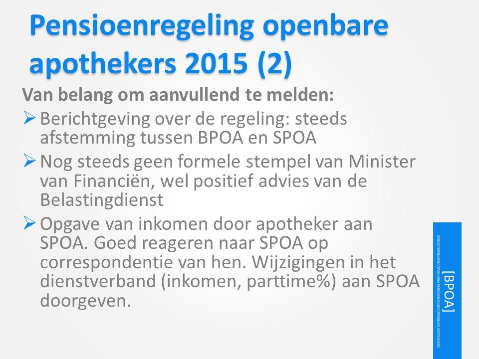 Pensioenregeling openbare apothekers 2015 (2)