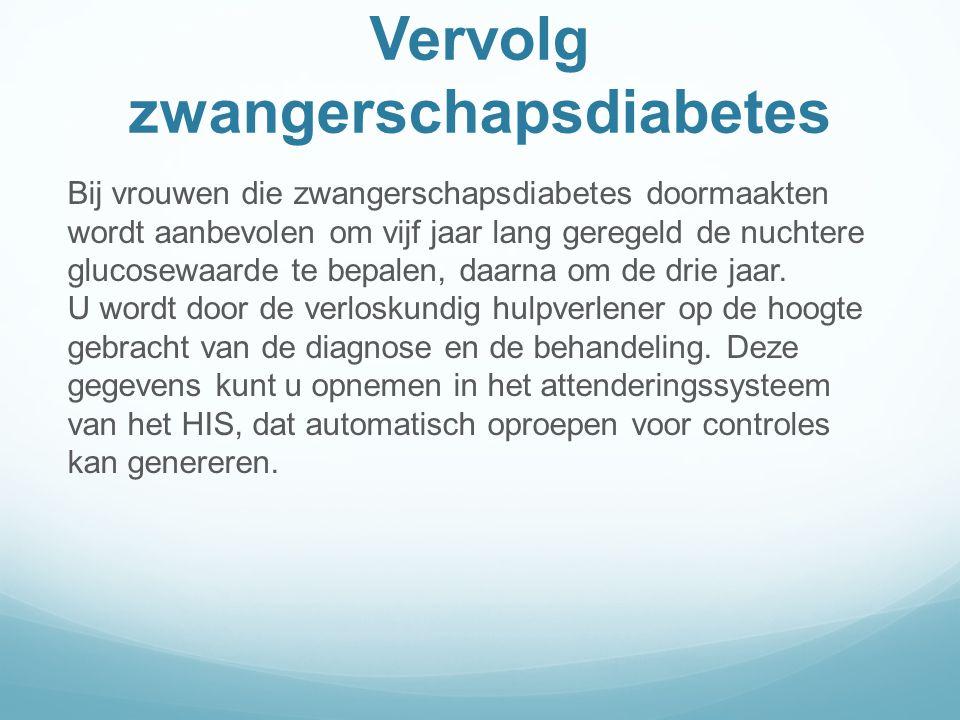 Vervolg zwangerschapsdiabetes