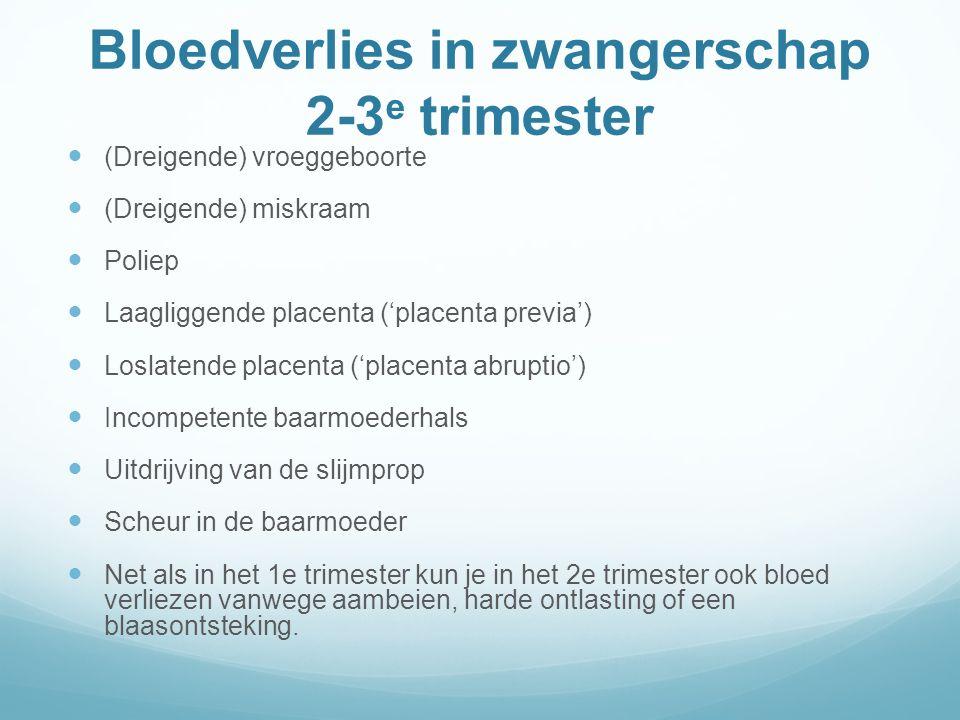 Bloedverlies in zwangerschap 2-3e trimester