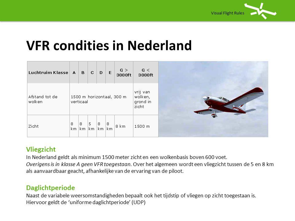 VFR condities in Nederland