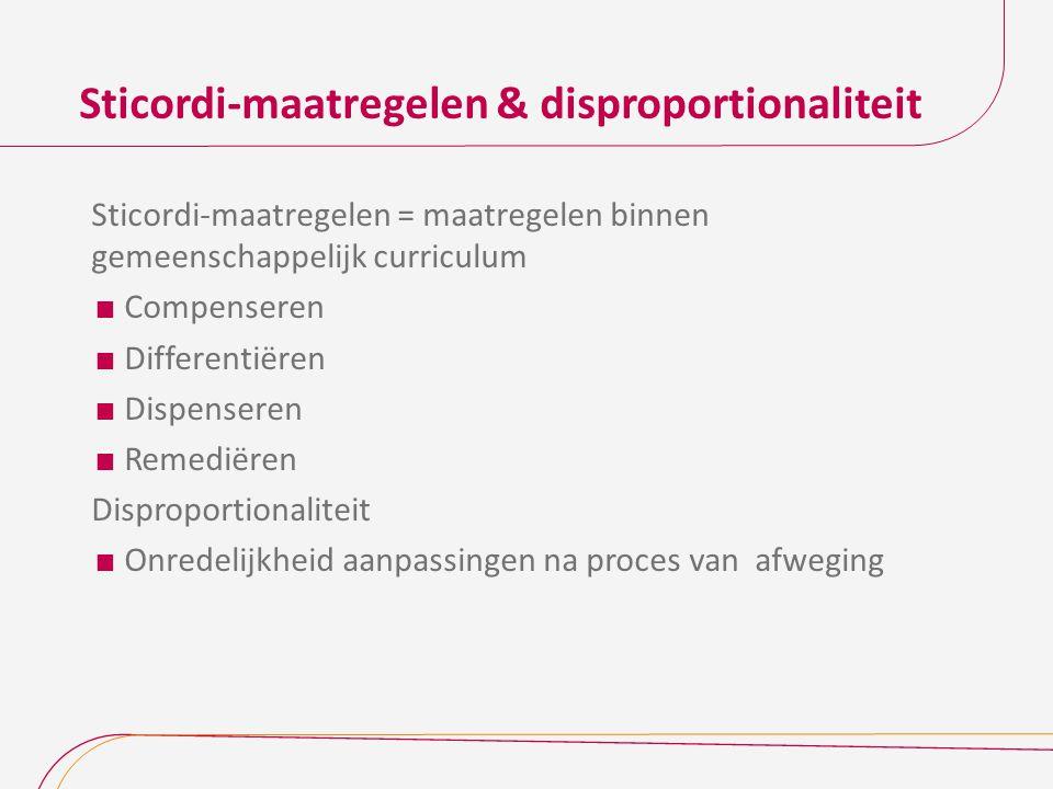 Sticordi-maatregelen & disproportionaliteit