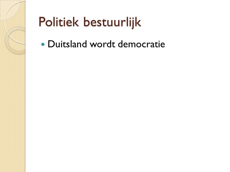 Politiek bestuurlijk Duitsland wordt democratie