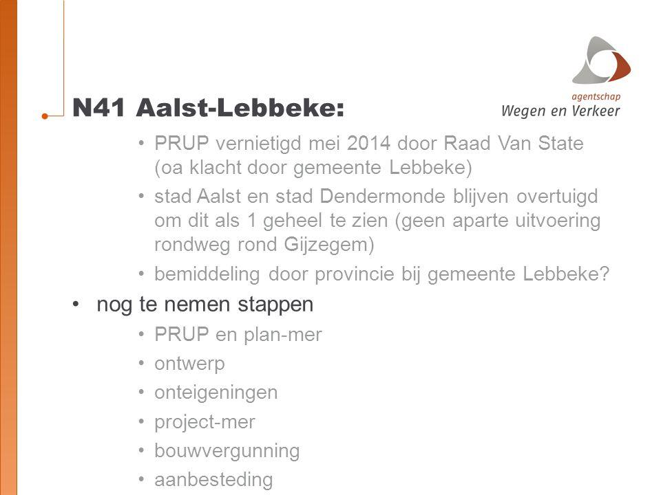 N41 Aalst-Lebbeke: nog te nemen stappen