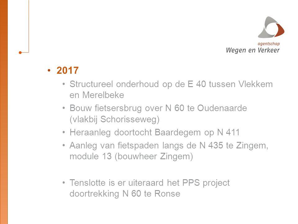 2017 Structureel onderhoud op de E 40 tussen Vlekkem en Merelbeke