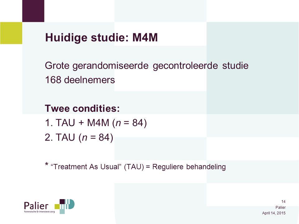 Huidige studie: M4M Grote gerandomiseerde gecontroleerde studie