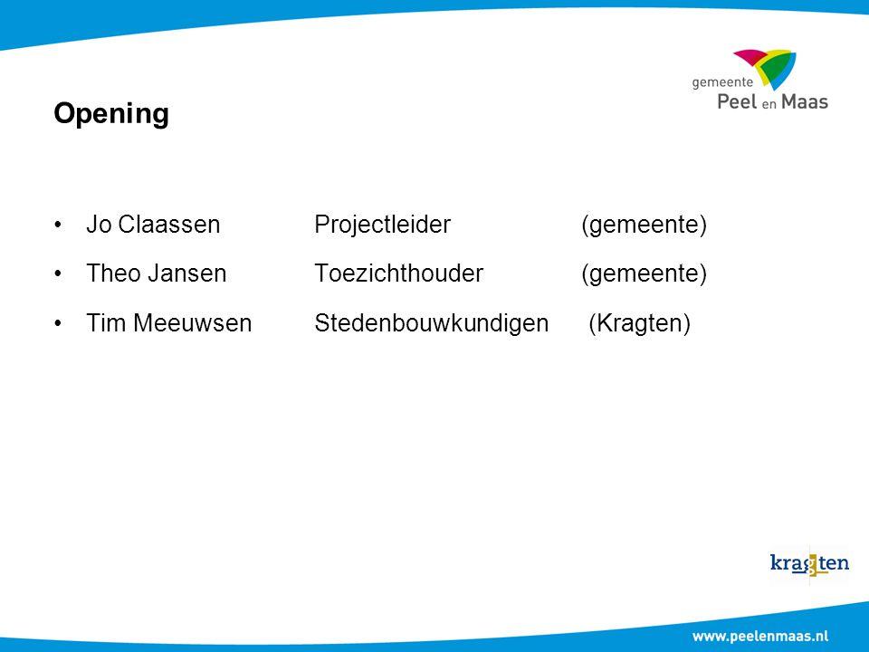 Opening Jo Claassen Projectleider (gemeente)