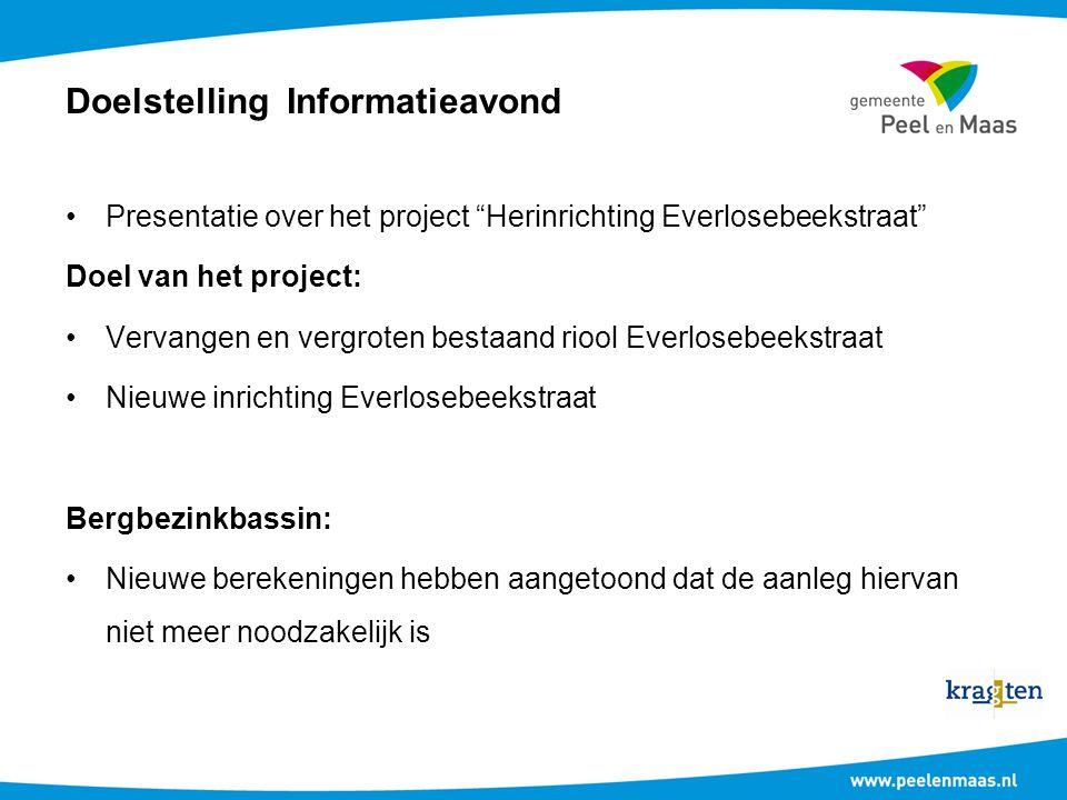 Doelstelling Informatieavond