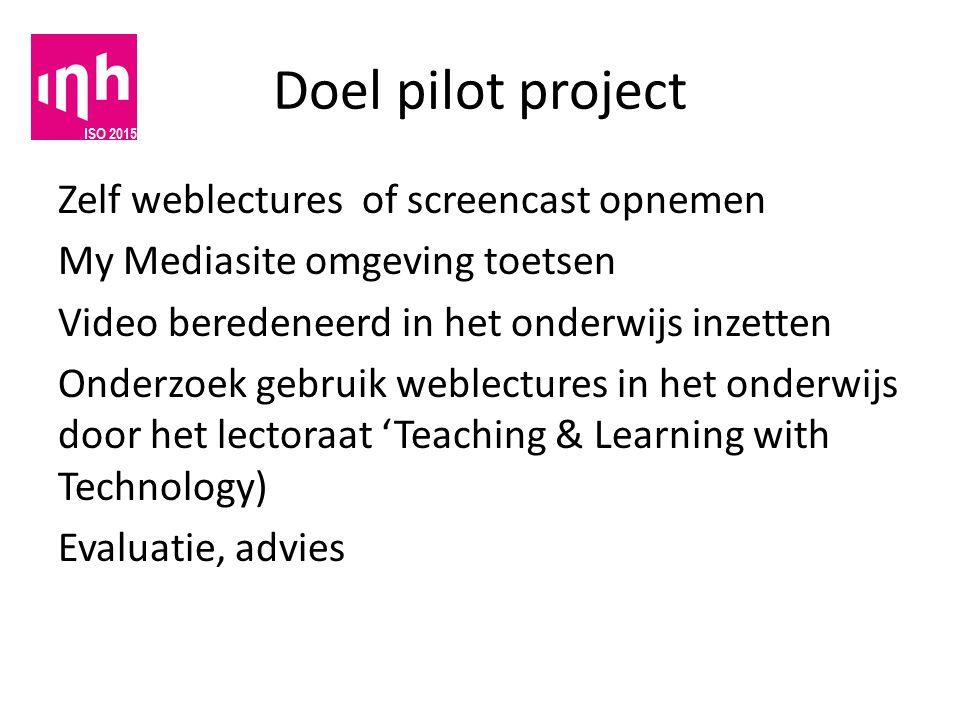 Doel pilot project