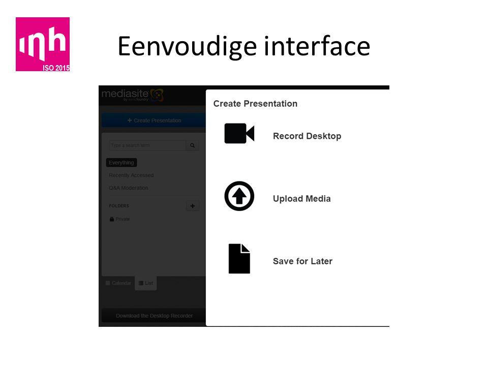 Eenvoudige interface