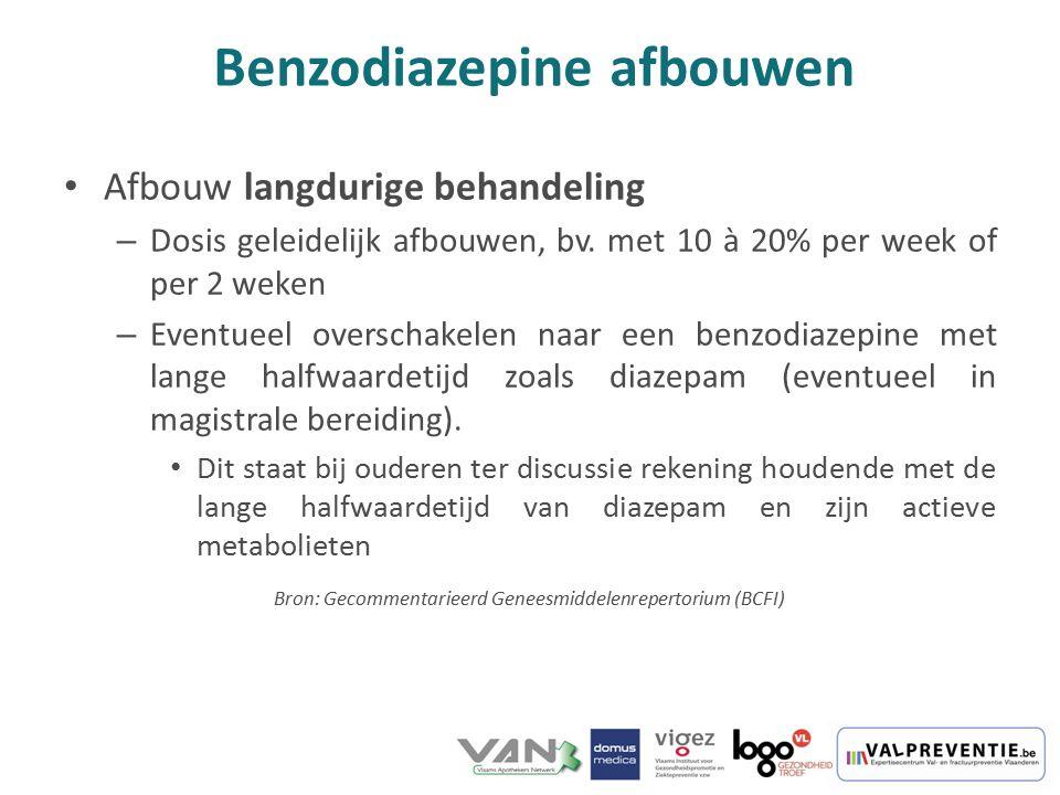 Benzodiazepine afbouwen