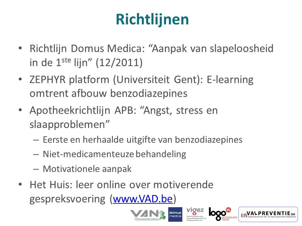 Richtlijnen Richtlijn Domus Medica: Aanpak van slapeloosheid in de 1ste lijn (12/2011)