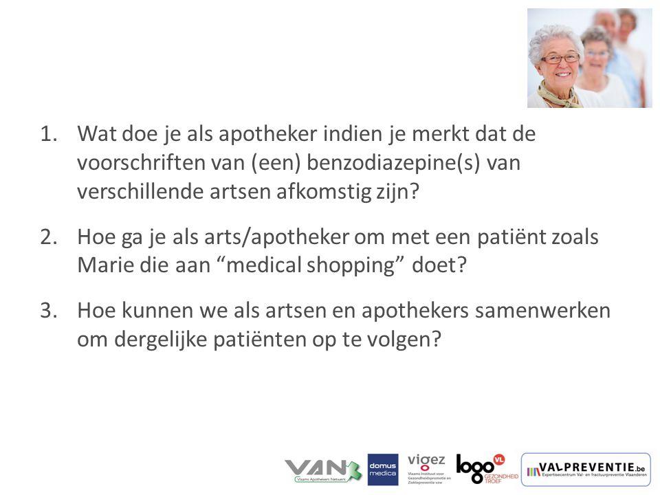 Wat doe je als apotheker indien je merkt dat de voorschriften van (een) benzodiazepine(s) van verschillende artsen afkomstig zijn