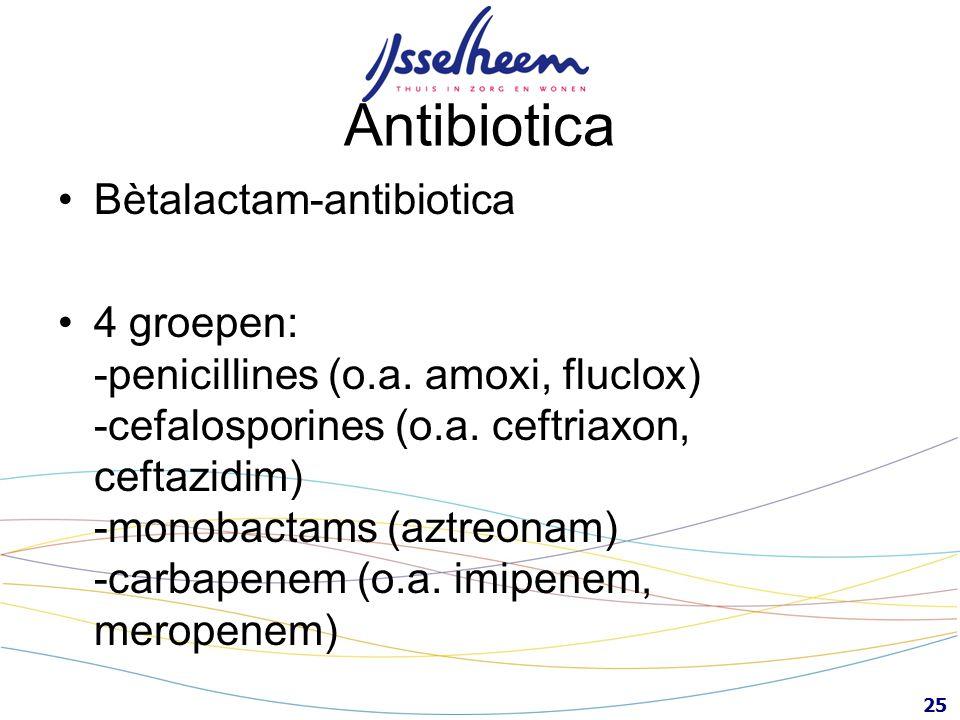 Antibiotica Bètalactam-antibiotica