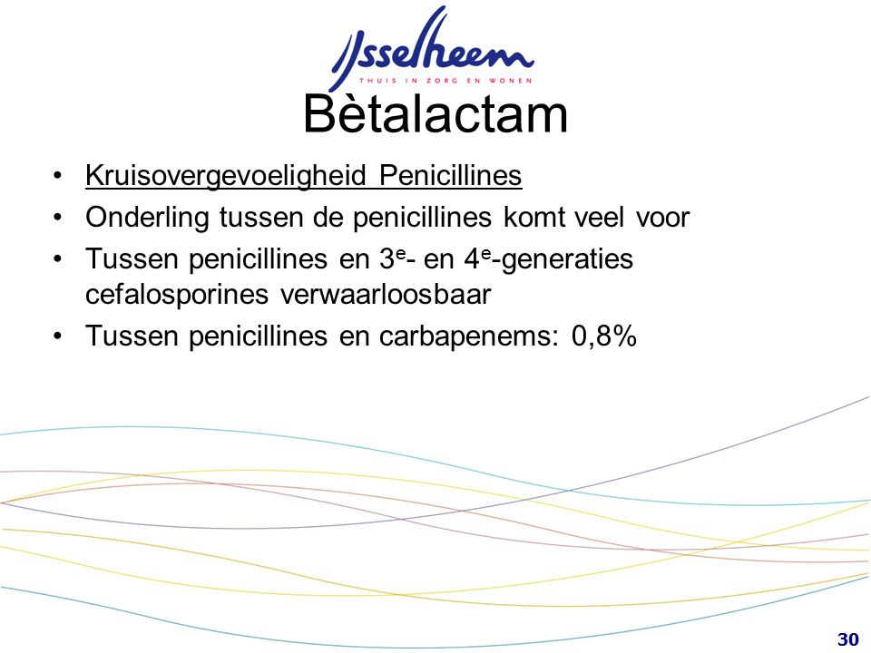 Bètalactam Kruisovergevoeligheid Penicillines