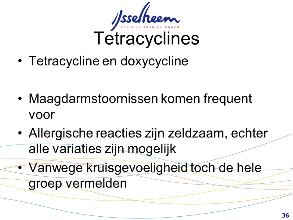 Tetracyclines Tetracycline en doxycycline