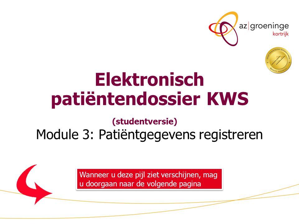 Elektronisch patiëntendossier KWS (studentversie)