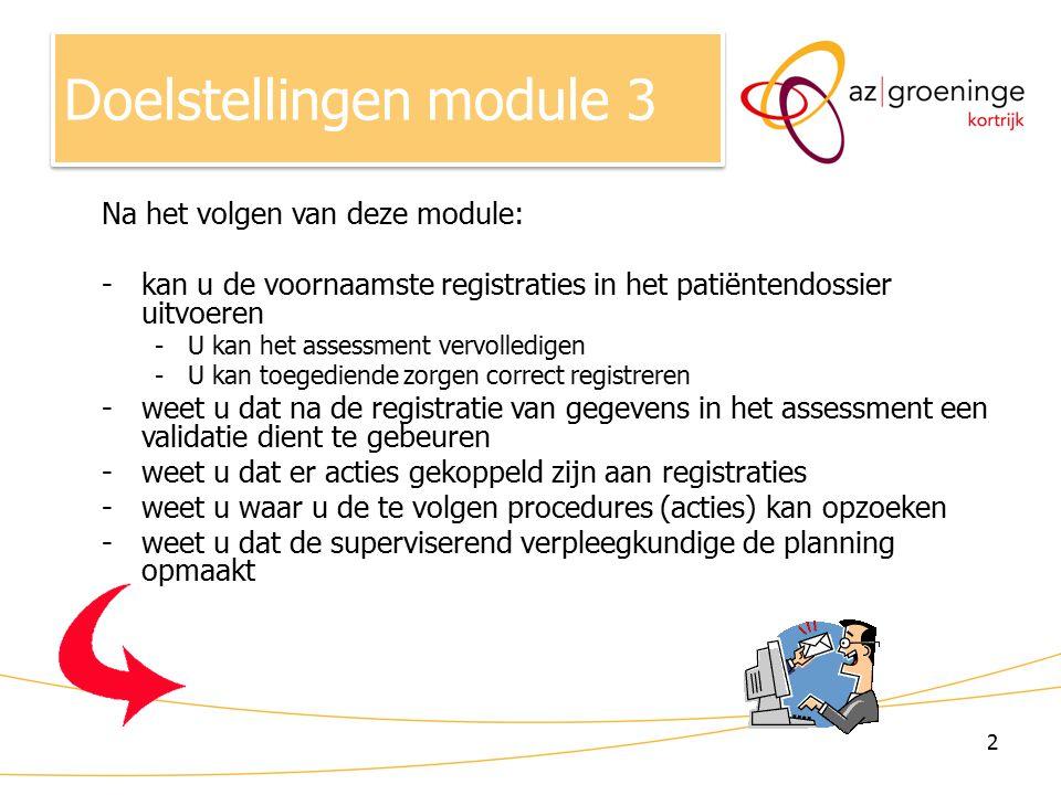 Doelstellingen module 3