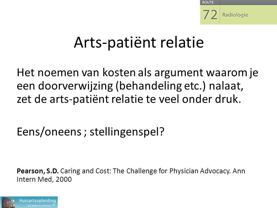 Arts-patiënt relatie