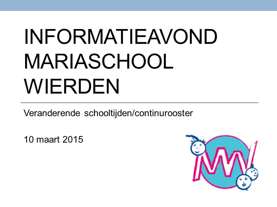 Informatieavond Mariaschool Wierden