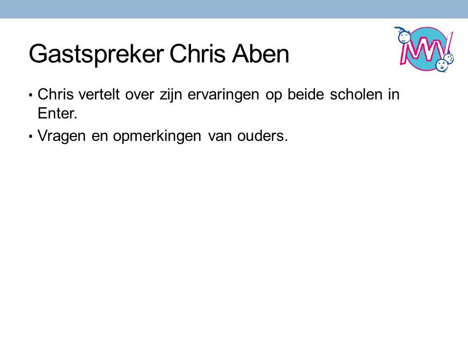 Gastspreker Chris Aben