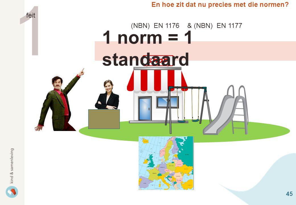 1 1 norm = 1 standaard En hoe zit dat nu precies met die normen feit