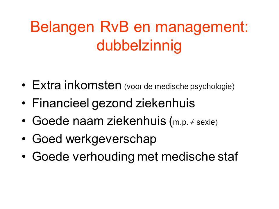 Belangen RvB en management: dubbelzinnig