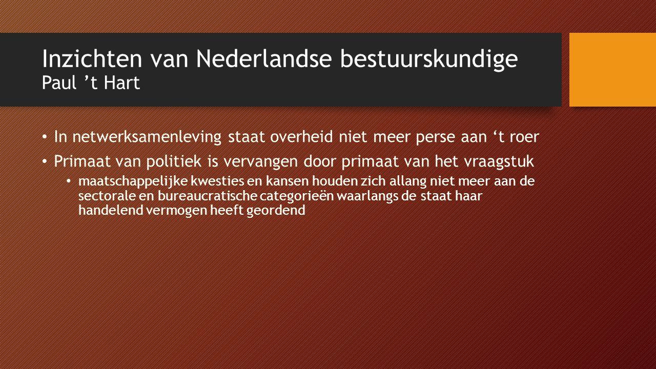 Inzichten van Nederlandse bestuurskundige Paul 't Hart