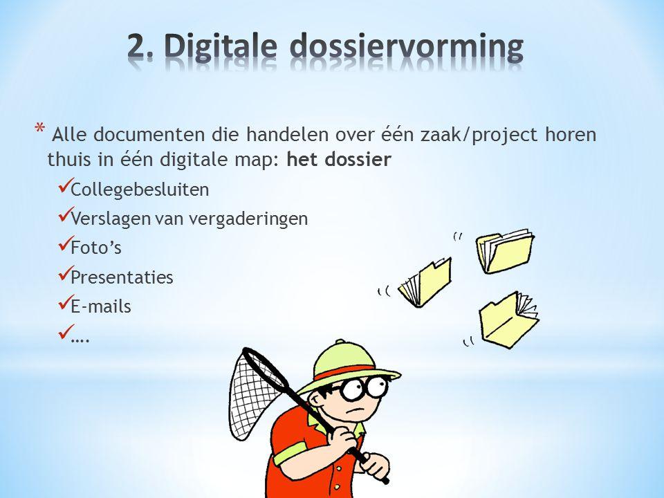 2. Digitale dossiervorming