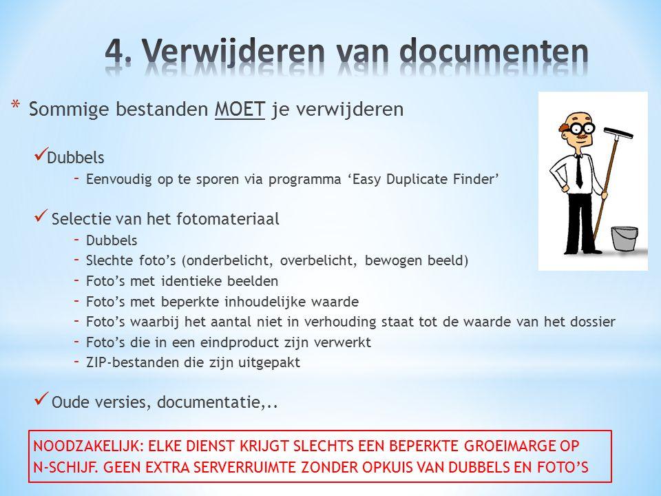 4. Verwijderen van documenten