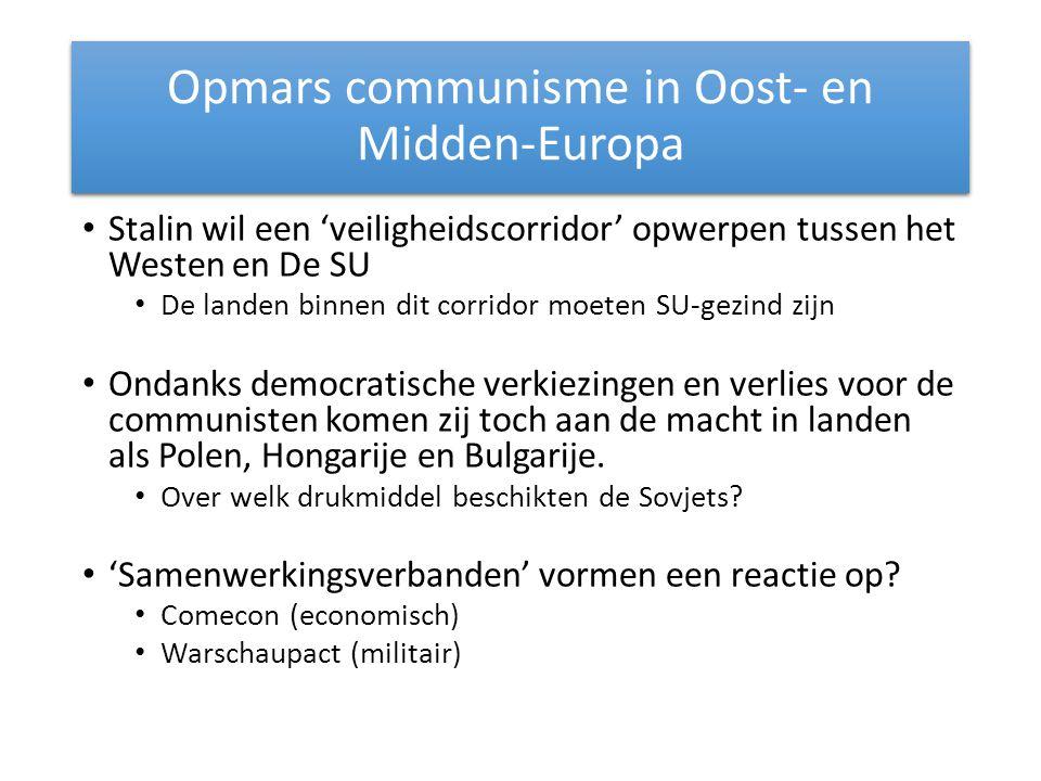 Opmars communisme in Oost- en Midden-Europa